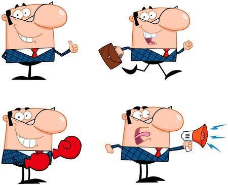 Business Man Cartoon Characters  Collection 1 Stock Vector - 18842923