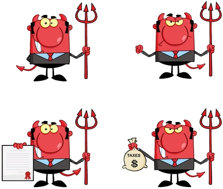 Devil Boss Cartoon Characters  Collection 1 Stock Vector - 18836839