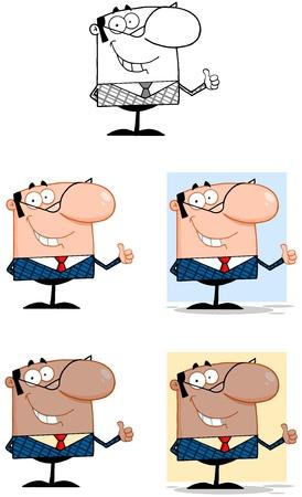 caricaturas de personas: El hombre de negocios de la historieta Caracteres Collection 3