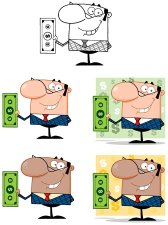 Business Man Cartoon Characters  Collection 6 Stock Vector - 18836928