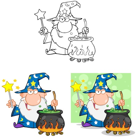 Wizard Cartoon Characters  Collection 9 Vector