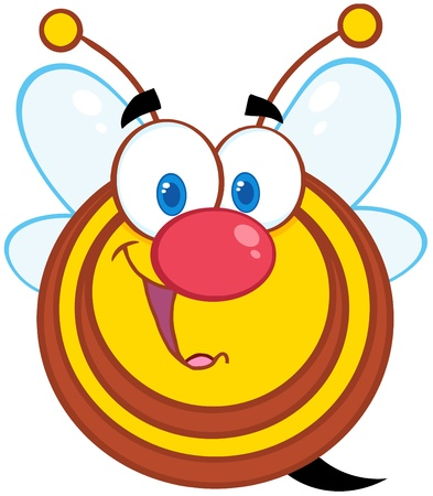 Cute Honey Bee Cartoon Mascot Character Vector
