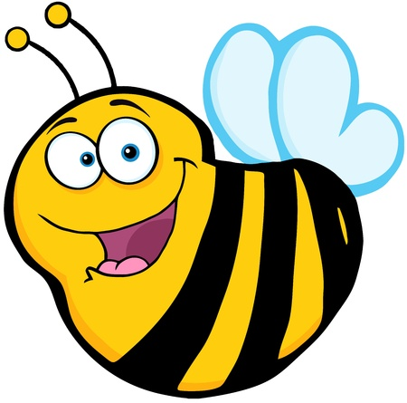 Happy Bee Cartoon Mascot Character Vector