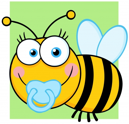 Baby Boy Bee Cartoon Character 일러스트