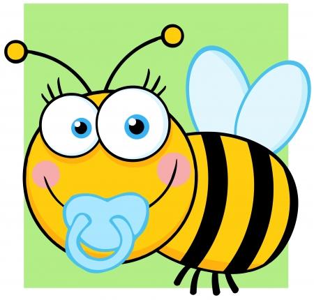 abeja caricatura: Baby Boy Bee personaje de dibujos animados