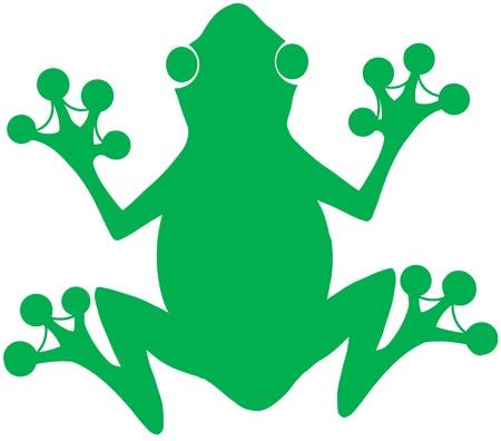 webbed: Green Frog Silhouette Logo