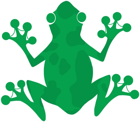 croaking: Green Spotted Frog Silhouette Logo