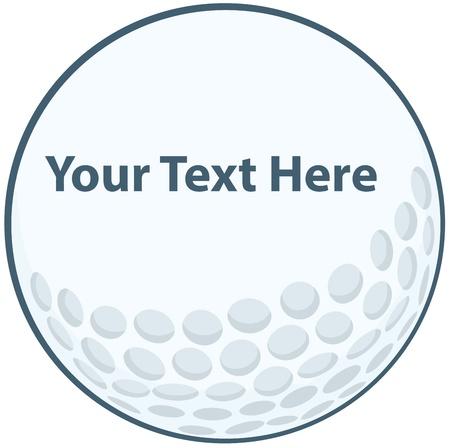 pelota de golf: Pelota de golf Entrar Vectores