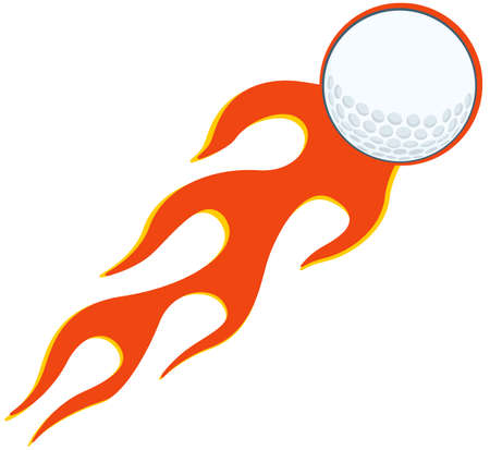Flaming Golf Ball Vector