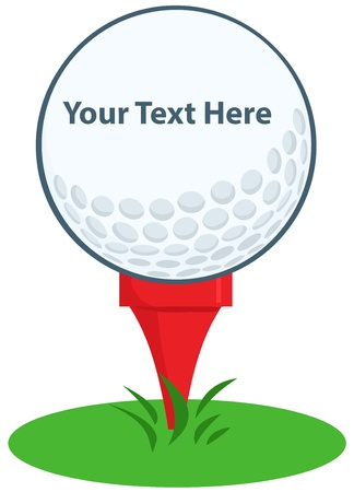 golfing: Golf Ball Tee Sign