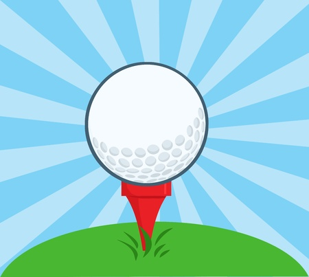 golf tee: Golf Ball With Tee Ready