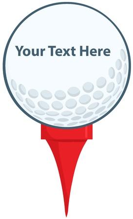 tee: Golf Ball With Tee