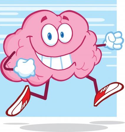 Healthy Brain Character Jogging