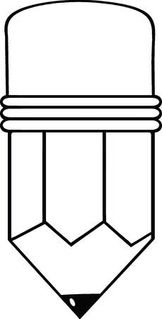 Outlined Cartoon Pencil Stock Vector - 21127358