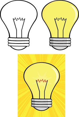 Light Bulbs  Set Stock Vector - 21491837