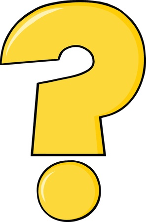 question mark icon: Yellow Cartoon Question Mark