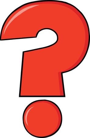 interrogativa: Rojo de la historieta del signo de interrogación Vectores