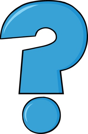 Blue Cartoon Question Mark