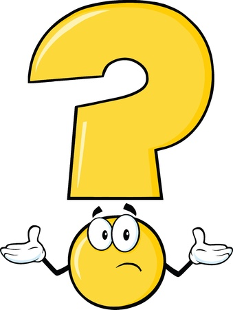 query: Yellow Question Mark Cartoon Character With A Confused Expression