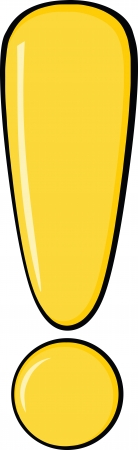 exclamation sign: Yellow Exclamation Mark Illustration