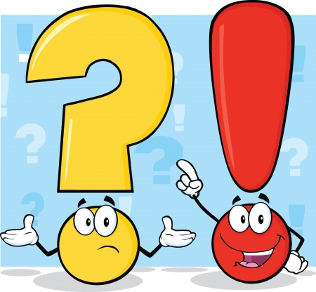 exclaim: Question Mark And Exclamation Mark Characters Illustration
