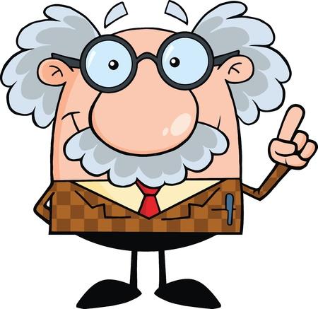 Lachende Professor Met Een Idee Stockfoto - 21699432