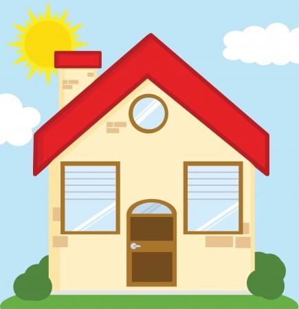 House Cartoon Illustration Stock Vector - 21941848