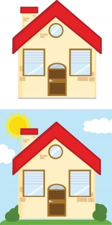 Houses Cartoon Illustrations