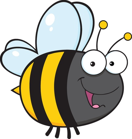 pollinator: Cute Bee Cartoon Character Illustration