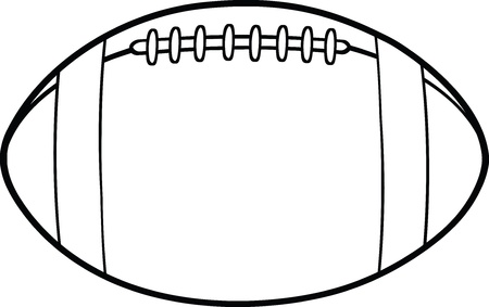 Black And White American Football Ball Cartoon Illustration Ilustração