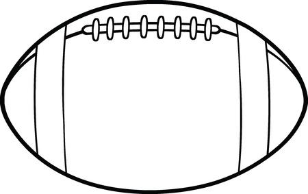 pelota rugby: Blanco y negro F�tbol americano bola Ilustraci�n de dibujos animados