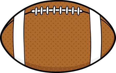 pigskin: American Football Ball Cartoon Illustration