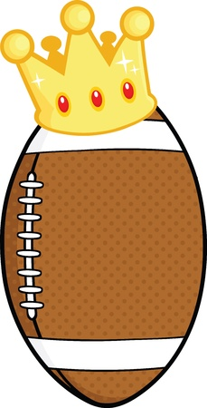 American Football Ball With Gold Crown Vector