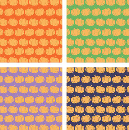 Pumpkin Backgrounds  Collection Set Vector