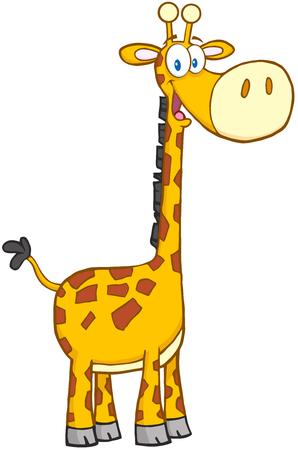 Feliz Giraffe Cartoon car?cter de la mascota Foto de archivo - 22583677