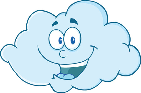 Gelukkig Cloud Cartoon Mascot Karakter Stockfoto - 24477316