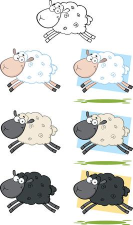 양 만화 캐릭터 점프 컬렉션 집합