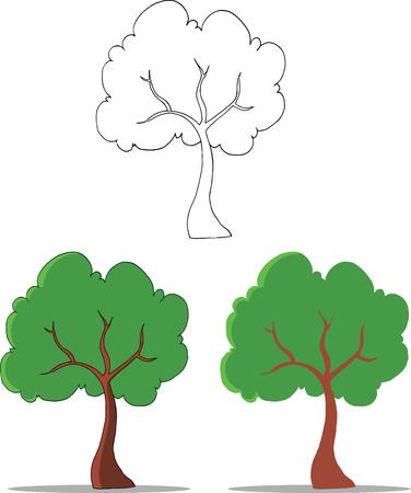 tall trees: Cartoon Tree  Set Collection