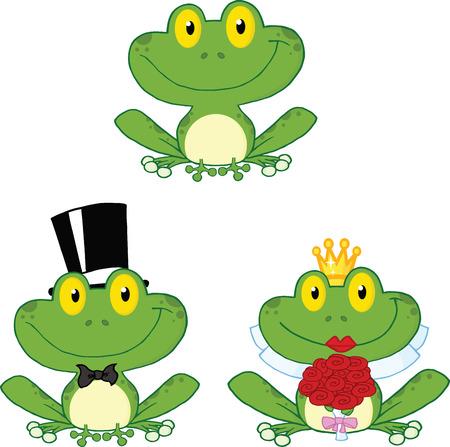 leapfrog: Colecci�n Happy Caracteres Peque�o ranas animados Set