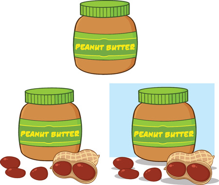 Peanut Butter  Set Collection Vector