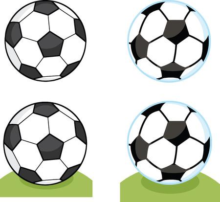 Cartoon Soccer Balls  Collection Set