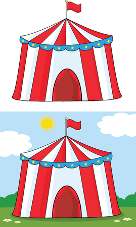 Big Circus Tent  Collection Set Vector