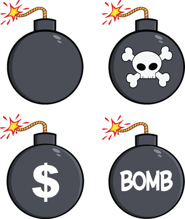 a cannon: Various Cartoon Bomb  Collection Set