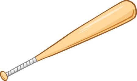 Batte de baseball en bois Illustration Isolé sur fond blanc