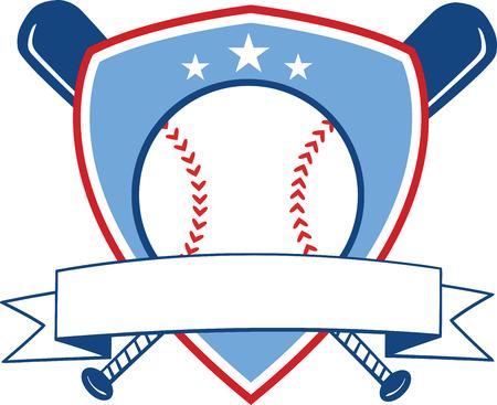Baseball Banner  Illustration Isolated on white 向量圖像