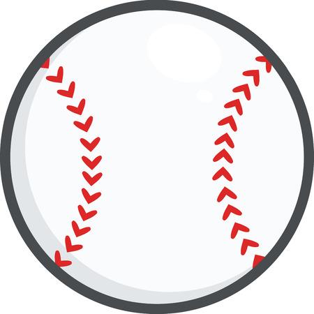 base ball: Baseball Ball  Illustration Isolated on white