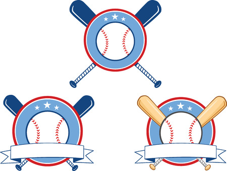 Baseball Banners 1  Collection Set Vector