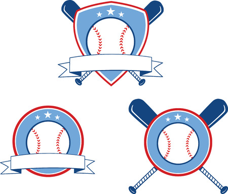 Baseball Banners 3  Collection Set Illustration