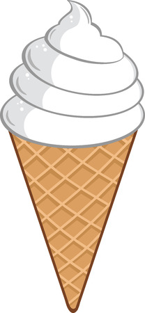 wafer: Ice Cream Cone  Illustration Isolated on white