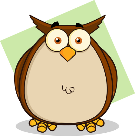 owl illustration: Owl Cartoon Character  Illustration Isolated on white